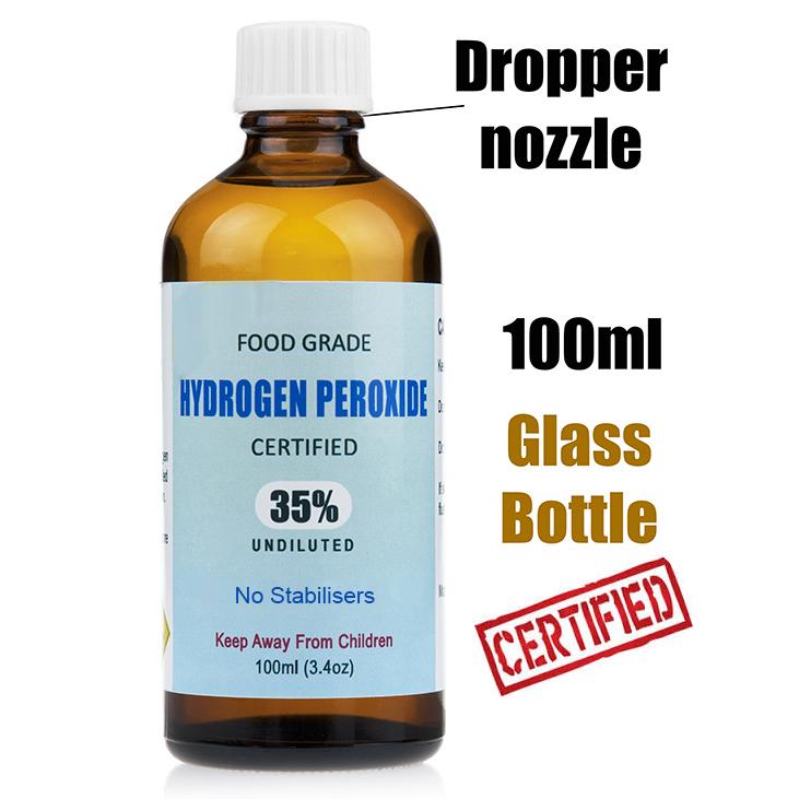 35 Food Grade Hydrogen Peroxide 100ml Au Water Purifier